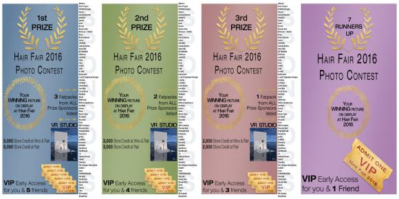 Hair Fair Photo Contest PRIZES sm