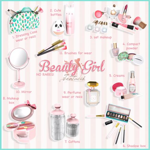 beauty girl key