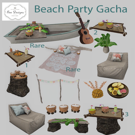 Bee Designs Beach Party Gacha