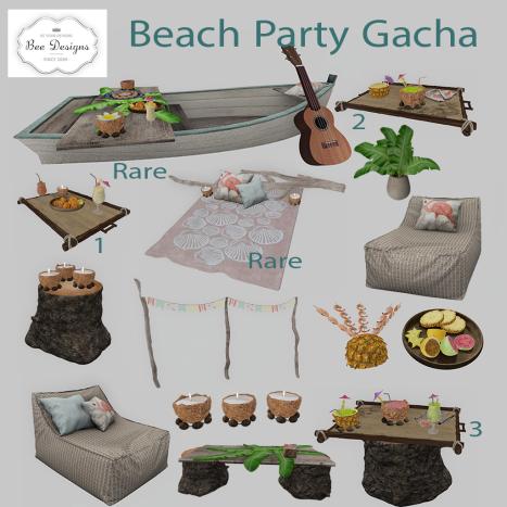 Bee Designs Beach Party Gacha