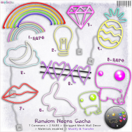 [ bubble ] Random Neons Gacha Key